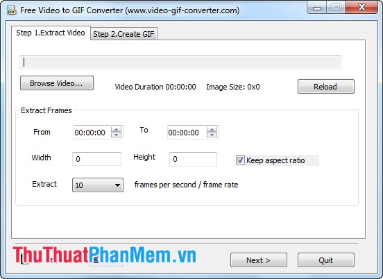 Giao diện Free Video to GIF Converter