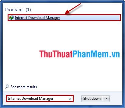 Chọn Internet Download Manager