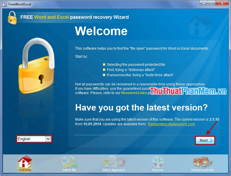 tai free word and excel password recovery wizard