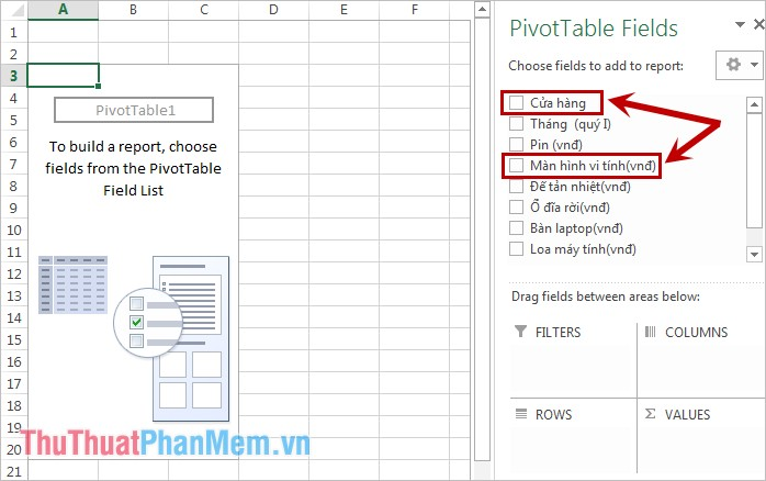 PivotTable Field
