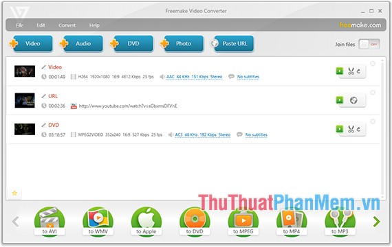 Phần mềm Freemake Video Converter