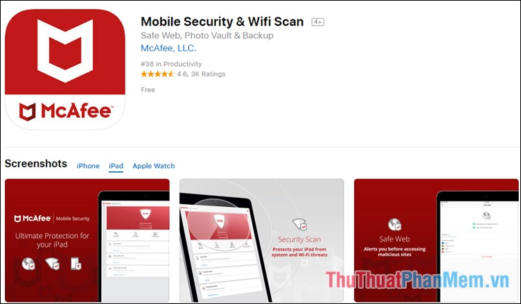 Phần mềm McAfee Mobile Security