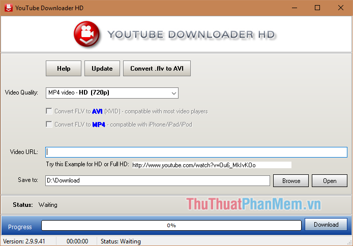 Phần mềm Youtube Downloader HD