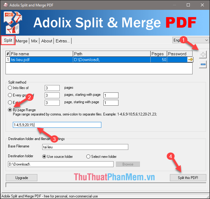 pdf file split and merge